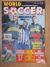 WORLD SOCCER MAGAZINE JULY 1989 - WORLD CUP UPDATE