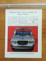 PUBLICITE ANCIENNE PUB ADVERT - Lancia Flavia berline