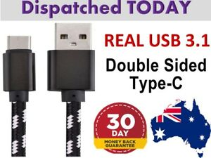 Real USB TYPE-C Fast Charger Charging Data Sync Cable Cord Samsung