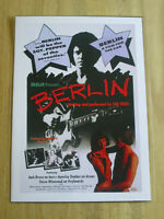 LOU REED  : BERLIN ALBUM PROMO POSTER   A4 GLOSSY REPO POSTER