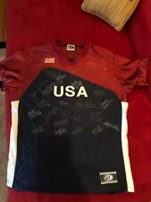 Very Rare Team USA Gold Metal Team Signed Autograph Jersey Jennie Finch + Others