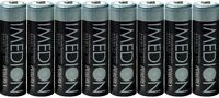 8 Pcs PowerEx Imedion AA NiMH 2400mAh Batteries With Free Maha Battery Case