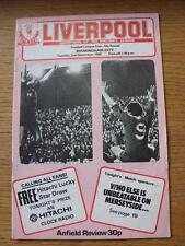 02/12/1980 Liverpool V BIRMINGHAM CITY FOOTBALL LEAGUE CUP [] (lievi graffi, crea