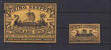 Ancienne  étiquette   allumettes  Suède  AAZ3931 Drakar Bateau 9