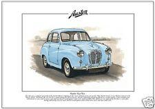 AUSTIN A30 / A35 - Fine Art Print - A4 size car picture New Austin Seven Saloon