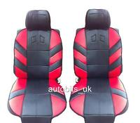 RED COMFORT FRONT SEAT COVERS CUSHION FOR PEUGEOT 106 206 306 406 309 107 207