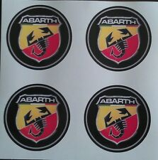 4x 50mm FIT ABARTH FIAT 500 500L LEGA RUOTA ADESIVI Center Badge ritaglia CAP HUB