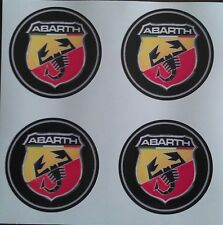4x 55mm fit ABARTH fiat 500 500L alloy wheel STICKERS center badge trim cap hub