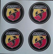 4x 60mm fit ABARTH fiat 500 500L alloy wheel STICKERS center badge trim cap hub