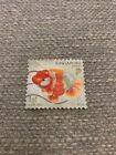 Used 2 Singapore stamp - Goldfish series *Free Postage