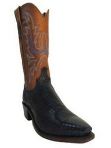 Lucchese1883 Men's Cowboy Boots N8953.54 Navy Blue