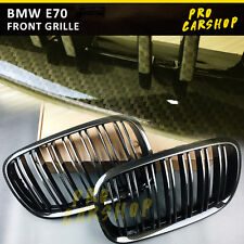 Brown Carbon Look For BMW E70 X5-Series E71 X6-Series M Type Front Grill 2007-13