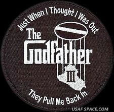 USAF 968th EXPEDITIONARY AIRBORNE AIR CONTROL SQ -THE GODFATHER - ORIGINAL PATCH