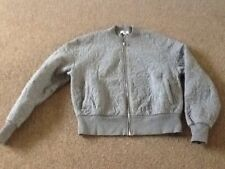 LADIES GREY QUILTED SWEAT SHIRT JACKET SIZE  X SMALL BY GAP