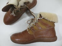 THINK! Boots Stiefel 40 - 40 1/2 braun Leder Echtleder Lammfell TIP TOP /9