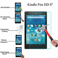 Real Tempered Glass Film Screen Protector For Amazon Kindle Fire HD 8 2017