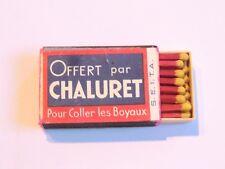 Rare Boite allumettes mignonette SEITA 1930 pub CHALURET COLLE A BOYAUX Matches