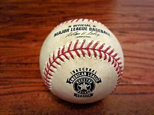 Astros vs Angels Game Used Baseball 9/13/2013 Dallas Keuchel Inaugural AL Logo