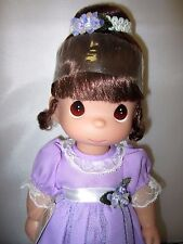 """Precious Moments Ballet Wishes Lavender Ballerina Dress 13"""" Doll New"""