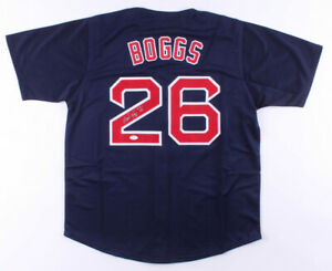 "Wade Boggs Signed Boston Red Sox Jersey Inscribed ""HOF 05"" (JSA COA) All Star 3B"