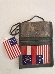 NWT Ruffin Flag Badge Holder Lanyard with Pockets Digital Camo 5x7