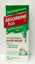 ABSORBINE JR PLUS LINIMENT fast absorbing pain reliever 4 oz