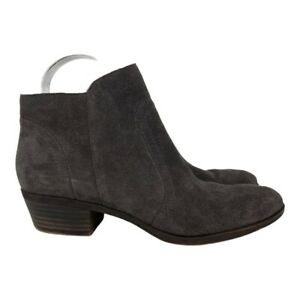 Lucky Brand Women's BRECK Suede Charcoal Gray Ankle Bootie Size 8.5M