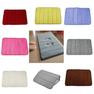Non-Slip Memory Foam Bath Mat Shower Carpet Pad Bathroom Absorbent Rug 60cm