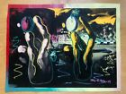 "Painting-Ringo (Steve Kaufman Protege), ""Dali"" Signed- Steve Kaufman and Ringo"