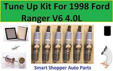 Tune Up Kit For 1998 Ford Ranger V6 4.0L Spark Plug, Air, Oil, Fuel Filter, Wire