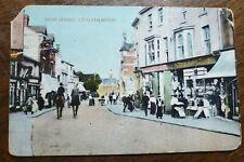 High Street, Littlehampton. Vintage Linfield Brds. Postcard To: Western Road W5