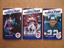 '98 Pizza Hut Minnesota Vikings Set Fran Tarkenton Bud Grant PaulKrause stickers