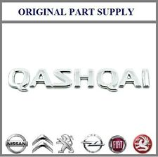 "Nissan Genuine ""QASHQAI"" Chrome Badge Emblem Rear For Boot Trunk 90892JD000"