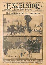 Feldgrauen Village de Mouland commune Fourons & Visé Belgique Belgium WWI 1914
