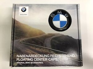 Genuine BMW Set of 4 Floating Level Alloy Wheel Centre Caps 68mm 36122455269