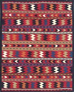 Handmade Woollen Kilim Dhurrie Hand-Woven Kelim 5x8 ft Turkish Oriental Area Rug