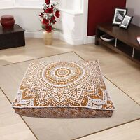 Floor Pillow Sofa Cat Bed Indian Square Mandala Over Sized Daybed Cushion Cover