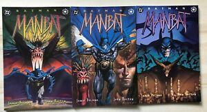 DC Comic - Batman Manbat Set Of 3 Comics 1995