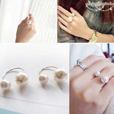 Charming Fashion Jewelry Faux Imitation Pearl Open Finger Ring Women Girls Gift