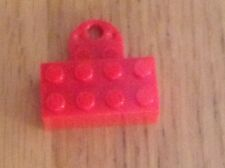 Lego magnet brick - put your minifigs on the fridge !  - free postage - red