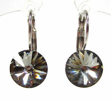 SoHo® Ohrhänger Ohrringe Strass geschliffene Kristalle rivoli black diamond grau