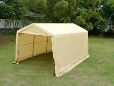 Outdoor 10'x15' Garage Canopy Sturdy Carport Portable Shelter Steel Tent w/Shed