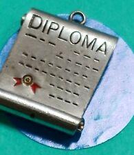 Charm O98 Diploma Sterling Silver Vintage Bfracelet