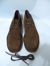 Ralph Lauren Michael Lagoon Suede/ Leather BROWN Chukka Boots Shoes (US. 10.D)