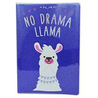 No Drama Llama Glitter Lined A5 Notebook Stationery Gift Idea