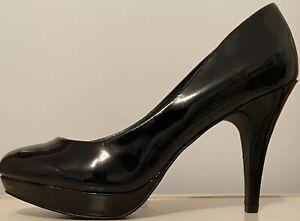 Women's Heels Black Patent Leather size 8