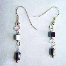 Sterling Silver Earrings with Hematite stones