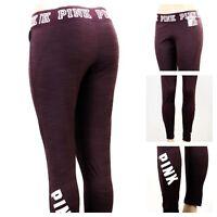 Victoria's Secret PINK ULTIMATE FLEECE-LINED GRAPHIC LEGGING GYM PANTS S XX115