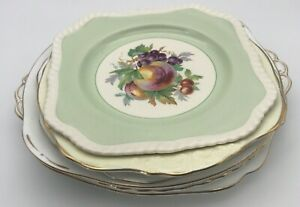 6 Pretty Bone China Cake Plates Bread & Butter Afternoon Tea Floral Vintage