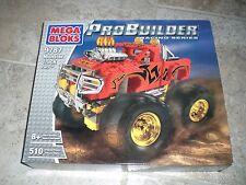 NEW! Mega Bloks #9787 Monster Truck Fury ProBuilder Series 510 pc Collector Set